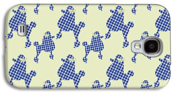 French Poodle Plaid Galaxy S4 Case by Christina Rollo