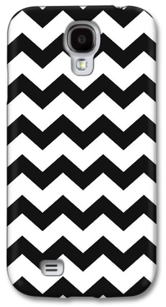 Galaxy S4 Case featuring the mixed media Black White Geometric Pattern by Christina Rollo