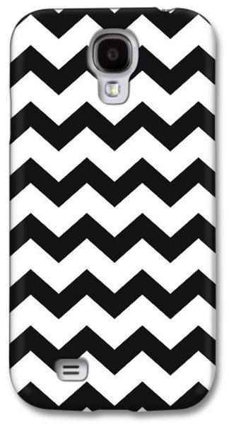 Black White Geometric Pattern Galaxy S4 Case by Christina Rollo