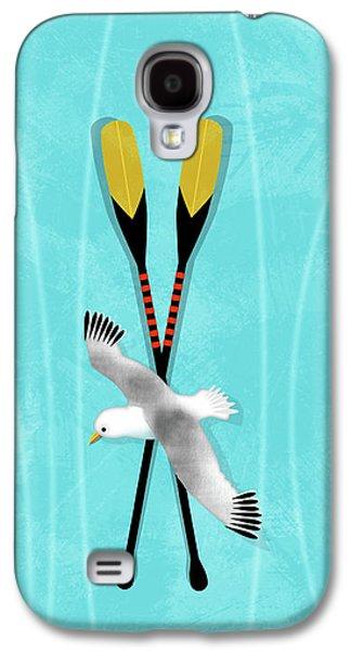 K Is For Kayak And Kittiwake Galaxy S4 Case by Valerie Drake Lesiak