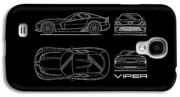 Viper Blueprint Galaxy S4 Case by Mark Rogan