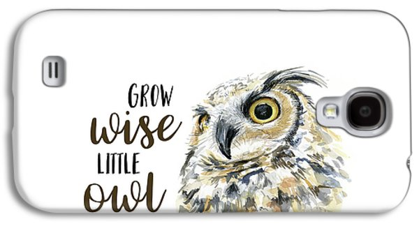 Grow Wise Little Owl Galaxy S4 Case