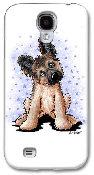 Curious Shepherd Puppy Galaxy S4 Case by Kim Niles