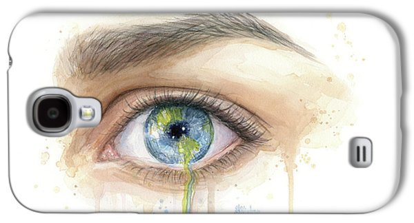 Crying Earth Eye Galaxy S4 Case by Olga Shvartsur