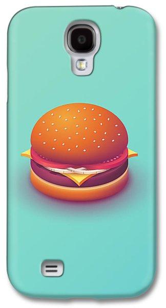 Galaxy S4 Case - Burger Isometric - Plain Mint by Ivan Krpan