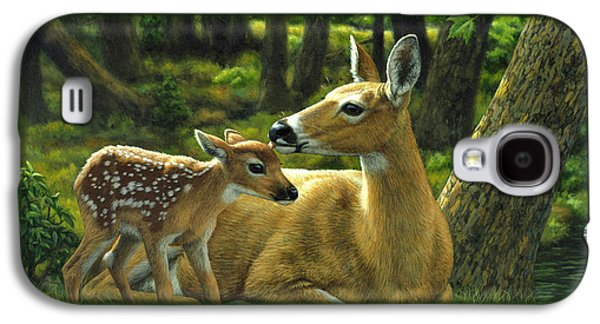 Whitetail Deer - First Spring Galaxy S4 Case by Crista Forest