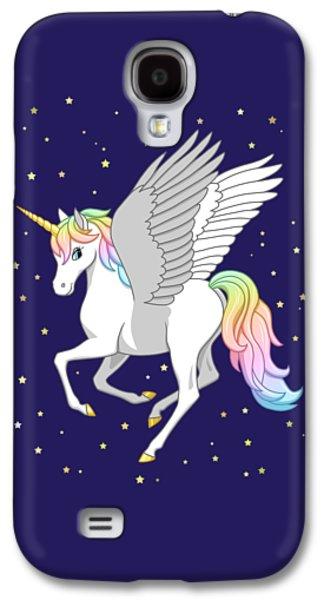 Pretty Rainbow Unicorn Flying Horse Galaxy S4 Case
