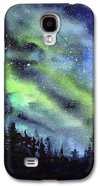 Constellations Galaxy S4 Case - Galaxy Watercolor Nebula Northern Lights by Olga Shvartsur
