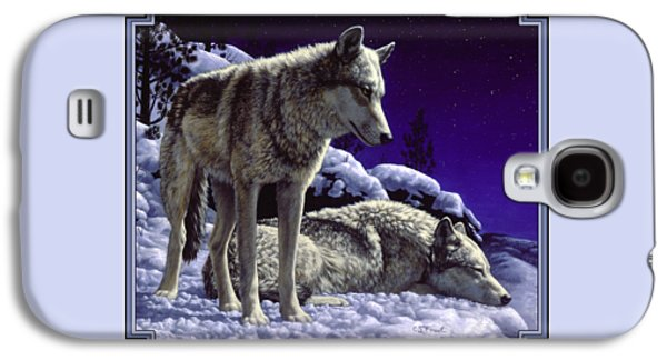 Wolf Painting - Night Watch Galaxy S4 Case by Crista Forest