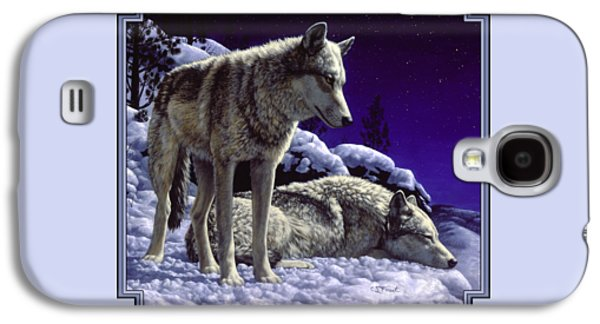 Wolf Painting - Night Watch Galaxy S4 Case