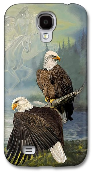 Eagels And Native American  Spirit Riders Galaxy S4 Case