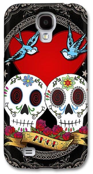 Love Skulls II Galaxy S4 Case by Tammy Wetzel