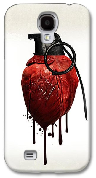 Heart Grenade Galaxy S4 Case by Nicklas Gustafsson