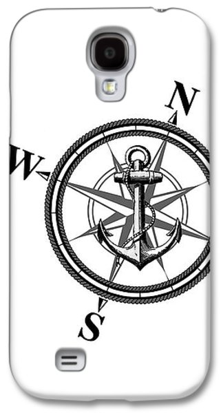 Compass Galaxy S4 Cases - Nautica BW Galaxy S4 Case by Nicklas Gustafsson