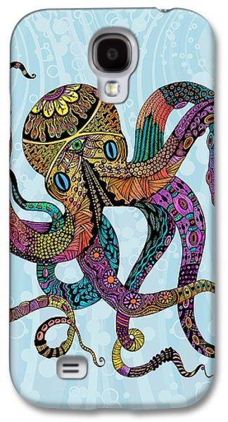 Electric Octopus Galaxy S4 Case by Tammy Wetzel