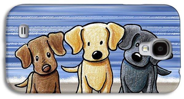 Labrador Beach Trio Galaxy S4 Case by Kim Niles