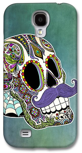 Mustache Sugar Skull Galaxy S4 Case