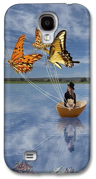 Butterfly Sailing Galaxy S4 Case by Linda Lees