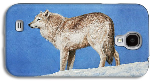 Snowy Wolf Galaxy S4 Case by Crista Forest