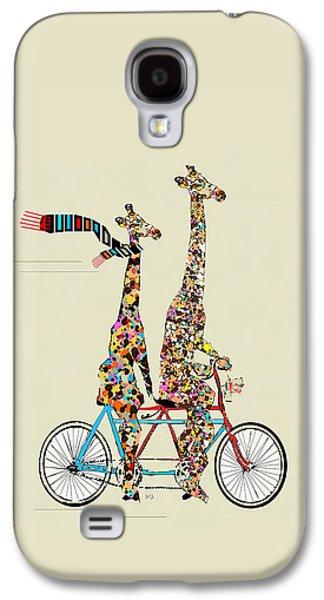 Transportation Galaxy S4 Case - Giraffe Days Lets Tandem by Bri Buckley