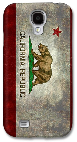 California Republic State Flag Retro Style Galaxy S4 Case by Bruce Stanfield