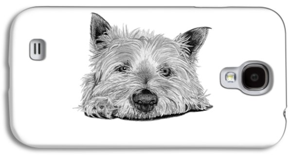 Little Dog Galaxy S4 Case by Sarah Batalka