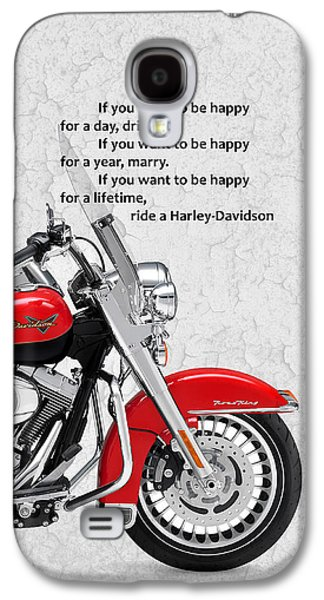 Harley Davidson Galaxy S4 Cases - If you want to be happy Galaxy S4 Case by Mark Rogan