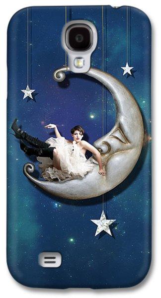 Fantasy Galaxy S4 Case - Paper Moon by Linda Lees