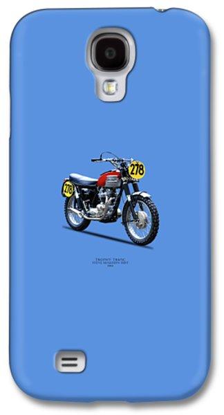 1964 Steve Mcqueen Isdt Galaxy S4 Case by Mark Rogan