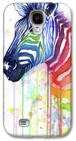Rainbow Zebra - Ode To Fruit Stripes Galaxy S4 Case by Olga Shvartsur