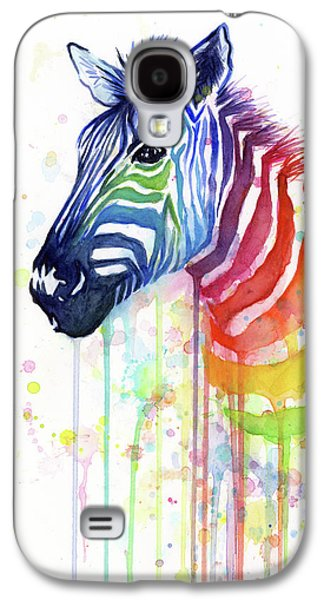 Galaxy S4 Case - Rainbow Zebra - Ode To Fruit Stripes by Olga Shvartsur