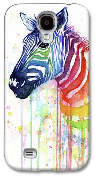 Rainbow Zebra - Ode To Fruit Stripes Galaxy S4 Case