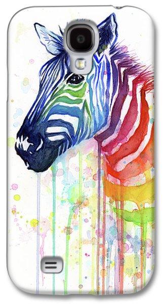 Galaxy S4 Case - Rainbow Zebra - Ode To Fruit Stripes by Olga Shvartsur