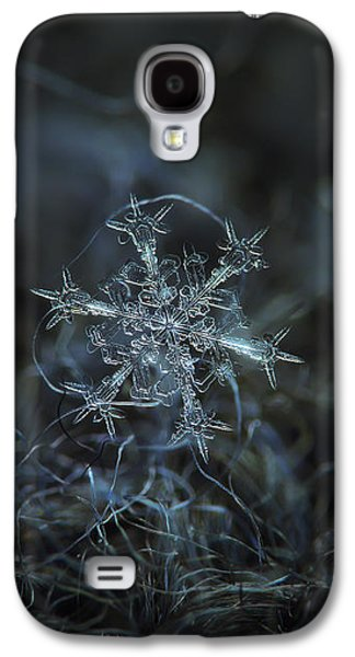 Snowflake Photo - Starlight Galaxy S4 Case