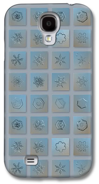 Snowflake Collage - Season 2013 Bright Crystals Galaxy S4 Case