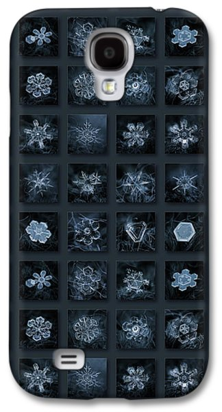 Snowflake Collage - Season 2013 Dark Crystals Galaxy S4 Case