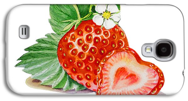 Artz Vitamins A Strawberry Heart Galaxy S4 Case by Irina Sztukowski