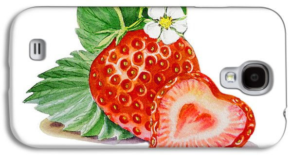 Artz Vitamins A Strawberry Heart Galaxy S4 Case