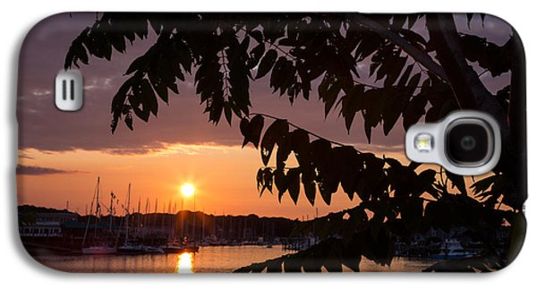 As It Sets Over The Harbor Galaxy S4 Case by Karol Livote