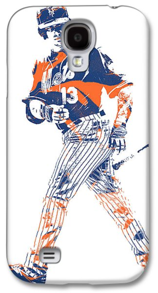 New York Mets Galaxy S4 Case - Asdrubal Cabrera New York Mets Pixel Art 1 by Joe Hamilton