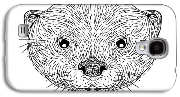 Asian Small-clawed Otter Head Drawing Galaxy S4 Case