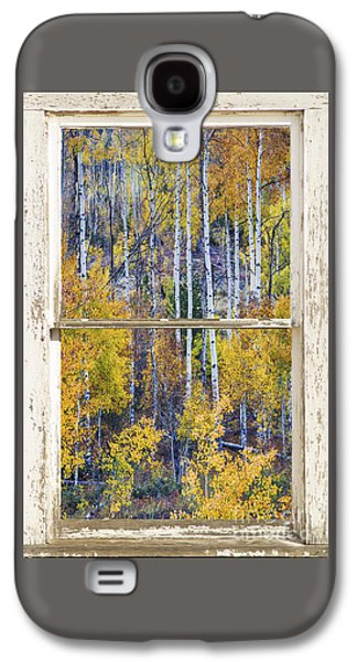 Aspen Tree Magic Cottonwood Pass White Farm House Window Art Galaxy S4 Case