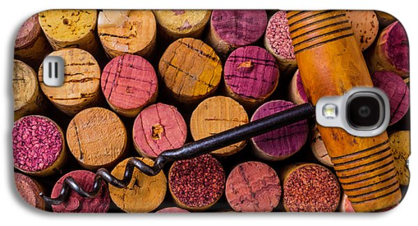 Assorted Wine Corks And Corkscrew Galaxy S4 Case by Garry Gay