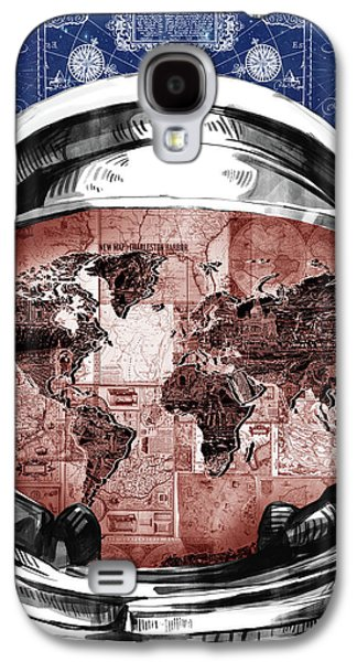 Astronaut World Map 3 Galaxy S4 Case