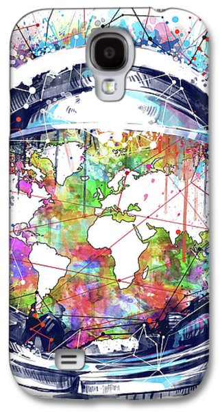 Astronaut World Map 6 Galaxy S4 Case