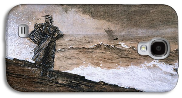 At High Sea Galaxy S4 Case by Winslow Homer