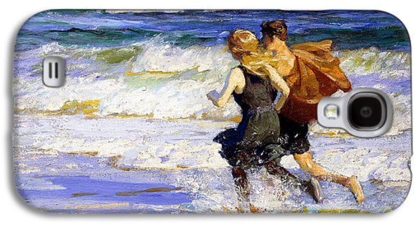 At The Beach Galaxy S4 Case by Edward Henry Potthast