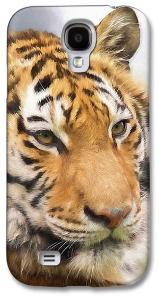 At The Center - Tiger Art Galaxy S4 Case by Jordan Blackstone