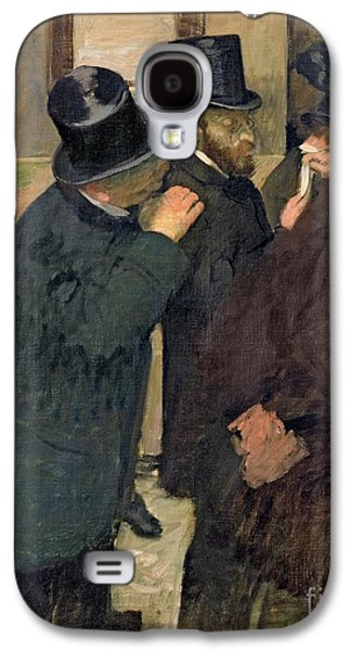 At The Stock Exchange Galaxy S4 Case by Edgar Degas