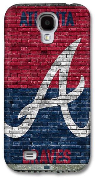 Atlanta Braves Brick Wall Galaxy S4 Case by Joe Hamilton